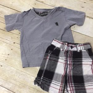 English Laundry Gray tee and matching shorts